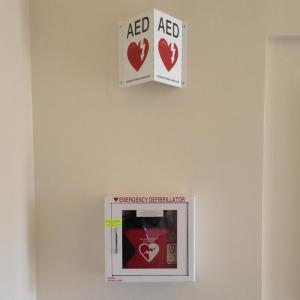 AED on the wall of office