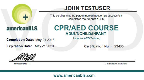 Online CPR Courses with a Printable CPR Certification Card.